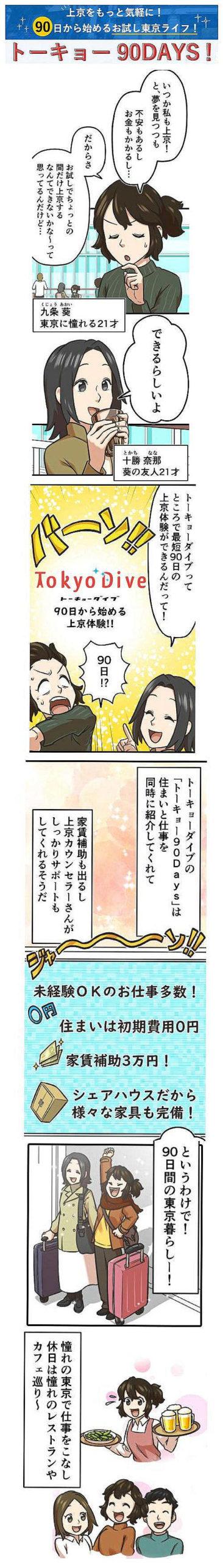 上京サポートサービスのDiveをアニメで紹介